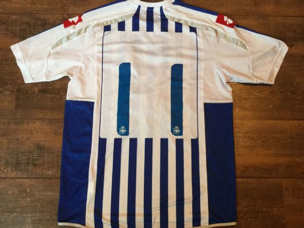 2010 2011 Deportivo La Coruna Match Worn Player Football Shirt Camiseta Spain